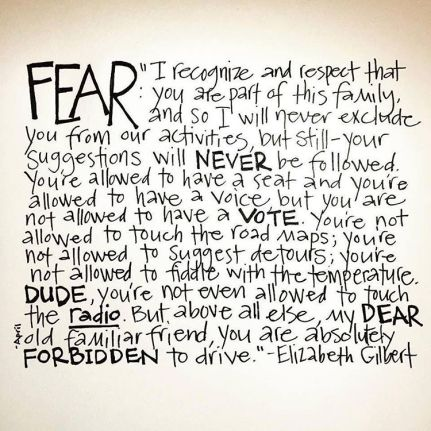 letter to fear