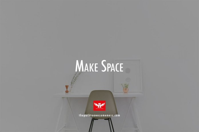 white table and chair minimalist setup