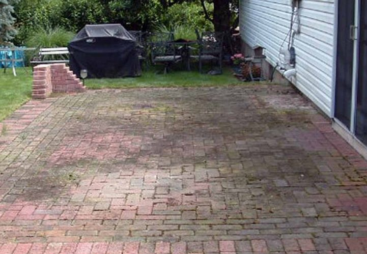 get rid of patio moss the paver