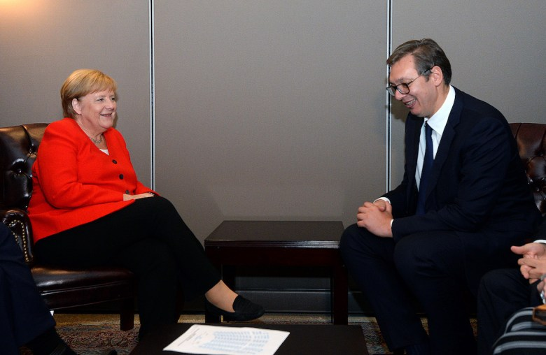 President Vucic in a meeting with Chancellor Merkel