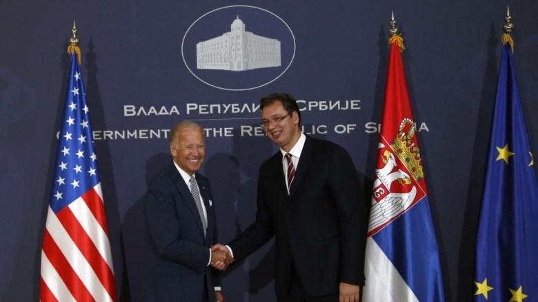 VP Joe Biden and the Serbian President Vucic ( Photo Credit: TANJUG )