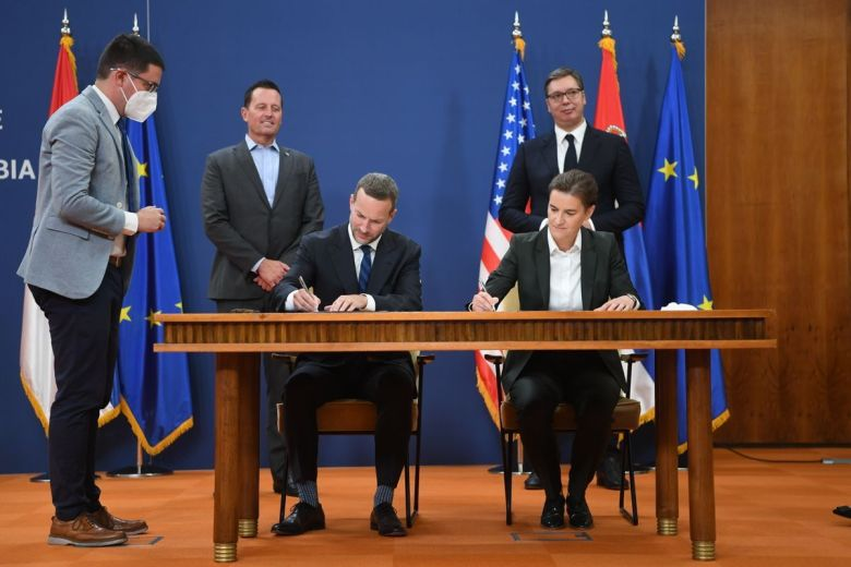 Signing Ceremony at the Serbian Palace: DFC's Adam Boehler and Serbian PM Ana Brnabic