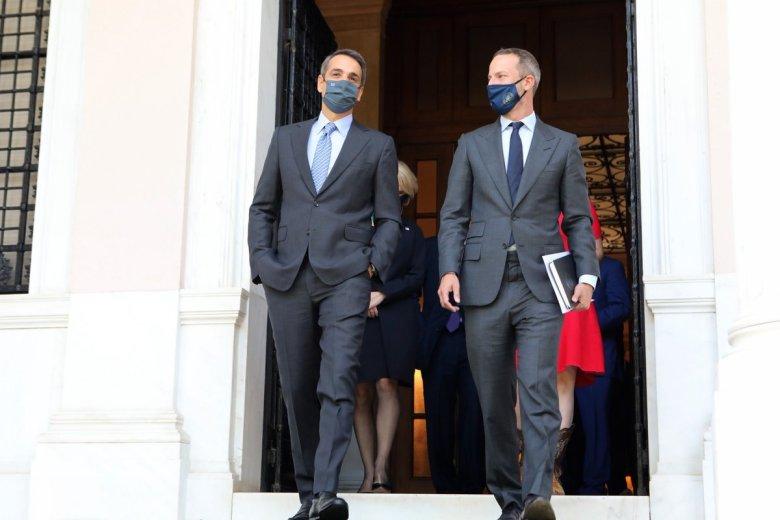 Greek PM Kyriakos Mitsotakis and DFC's CEO Adam Boehler