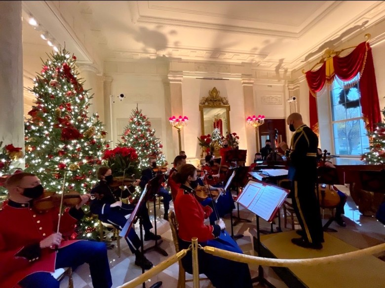 Classical orchestra playing for the 2020 Christmas at the White House ( Photo by William Moon)