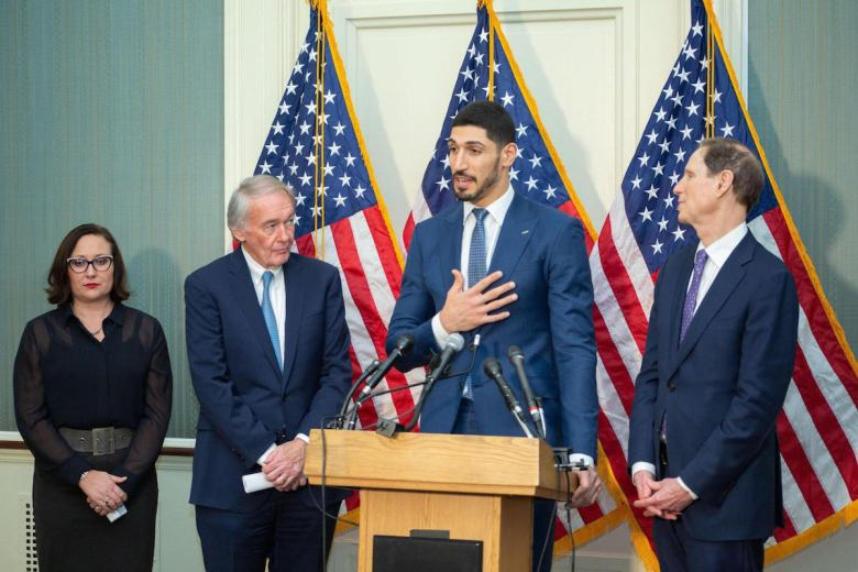 Senators Edward Markey (D-Mass.) and Ron Wyden (D-Ore.)  joined  by Enes Kanter to introduce legislation that states it is the policy of the United States to support democracy, peace, and prosperity in Turkey.