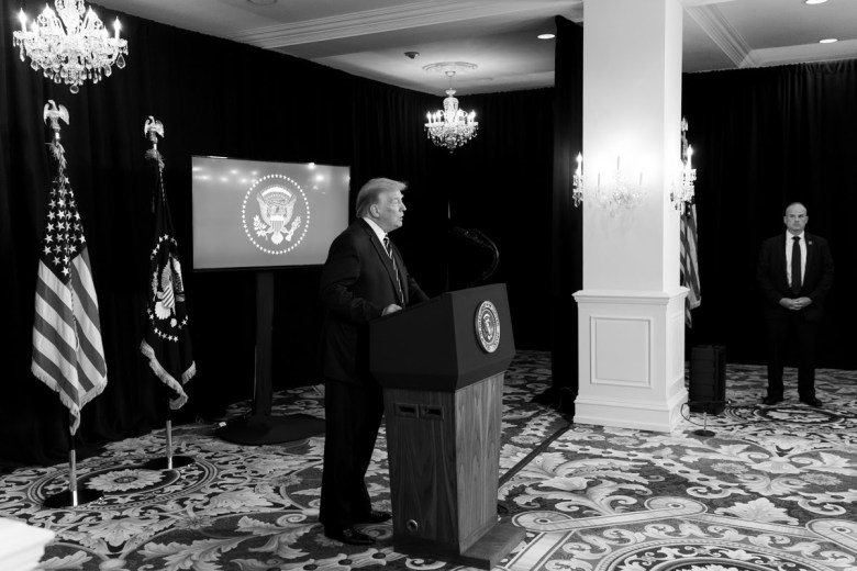 President Donald J. Trump delivers remarks during a news conference at Trump National Golf Club Bedminster Friday, Aug. 7, 2020, in Bedminster, N.J. ( Photo by Shealah Craighead)