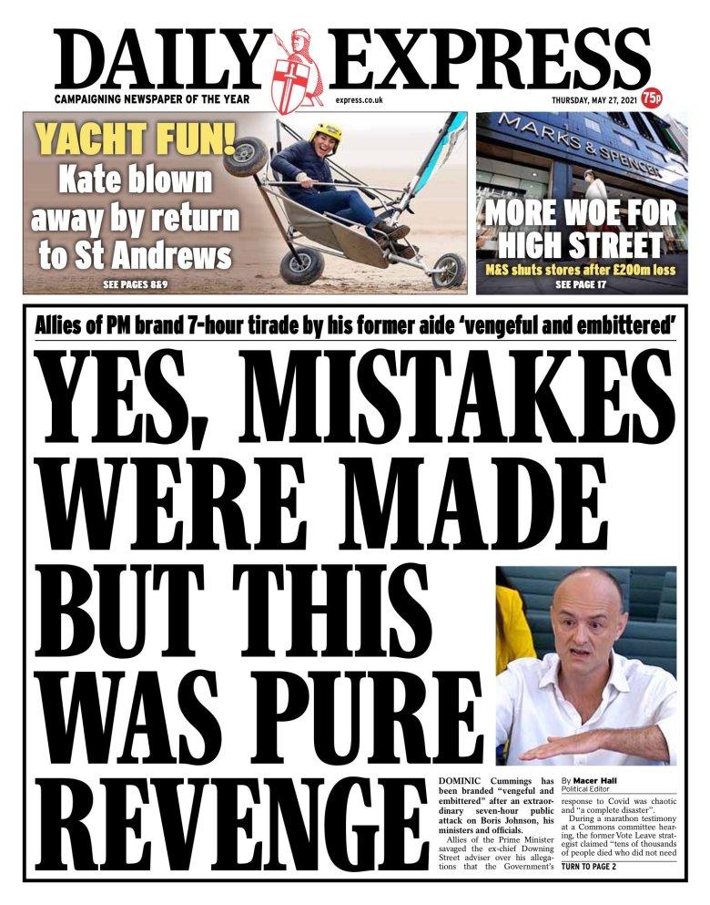Thursday's Daily Express
