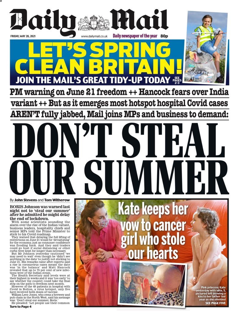 Friday's Daily Mail