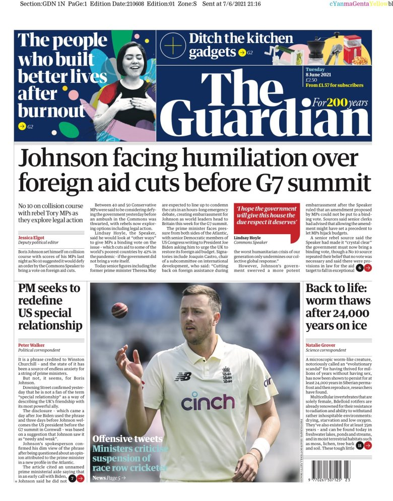 Tuesday's Guardian