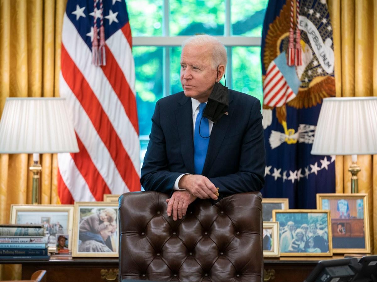 POTUS Joe Biden (Photo by Adam Schultz)