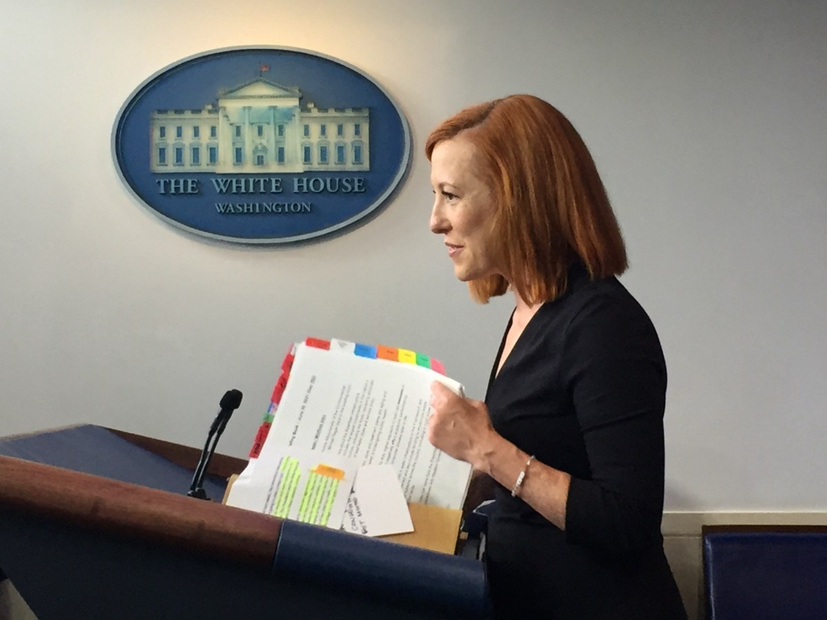 Press Secretary Jen Psaki holds a press briefing ( Photo by William Moon)