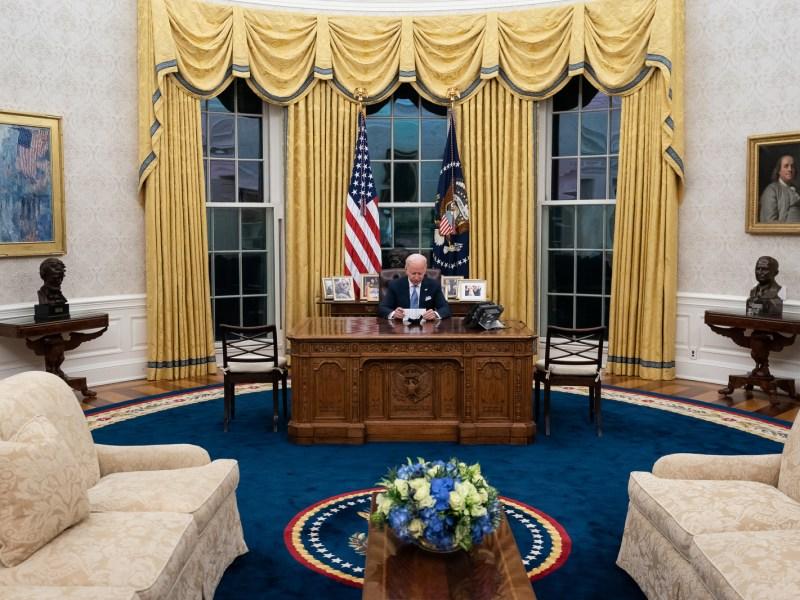 President Biden ( Photo by Adam Schultz)