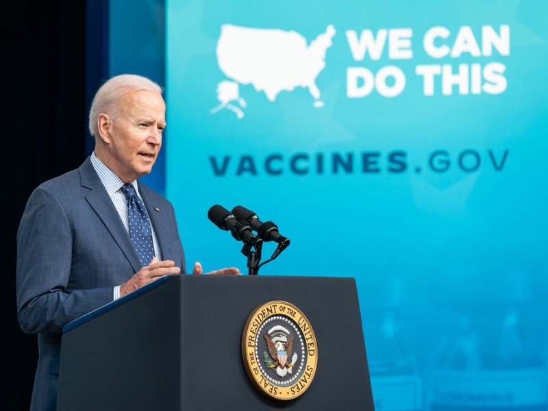 Press Secretary Jen Psaki reveals CDC's new Covid guidelines,( Photo: Adam Shultz)