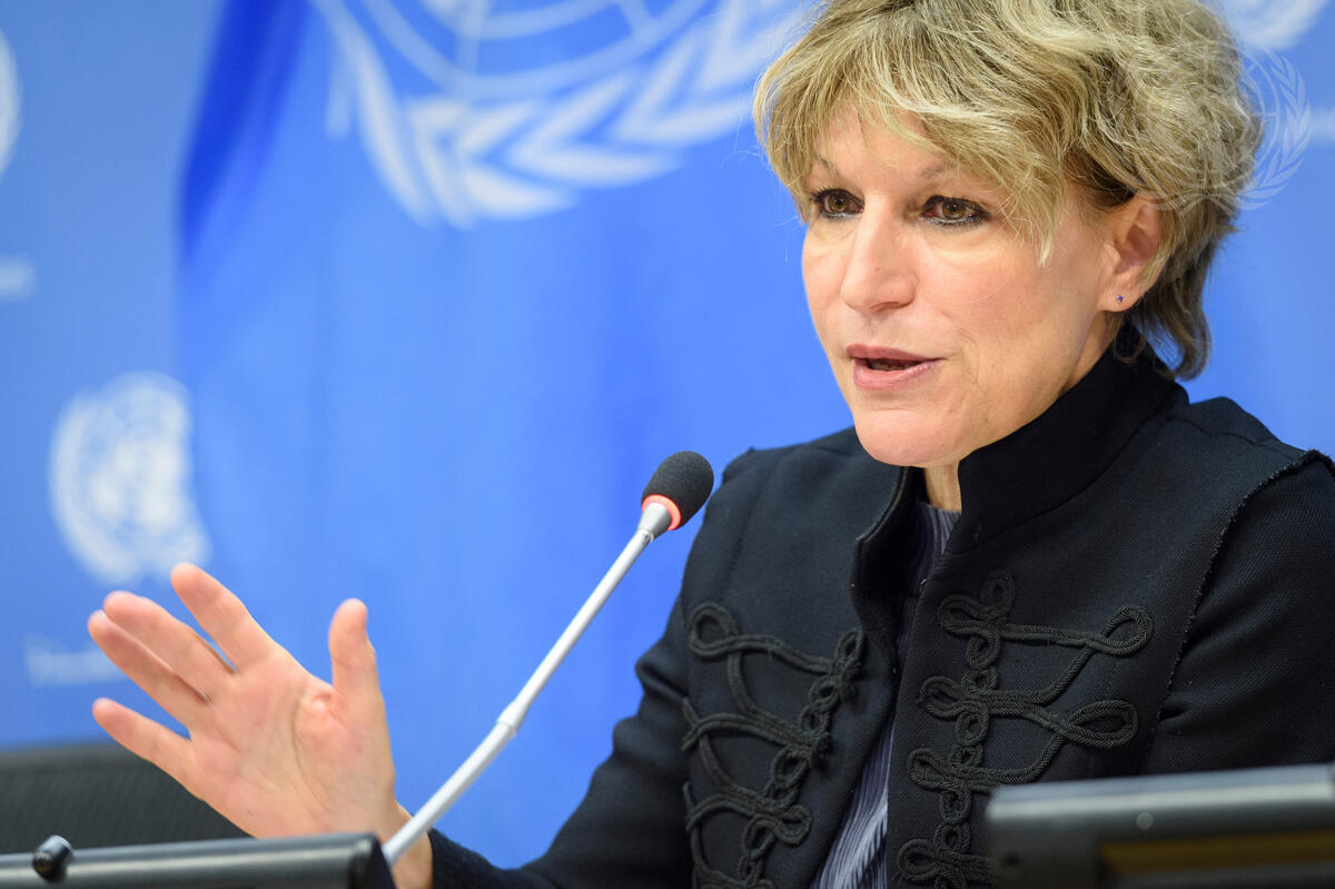 Agnes Callamard, Secretary General of Amnesty International ( UN Photo/Loey Felipe)