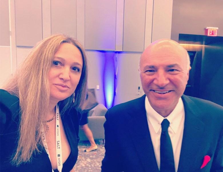 "White House Correspondent, Founder of The Pavlovic Today Ksenija Pavlovic Mcateer and Kevin O""Leary at SALT NY"