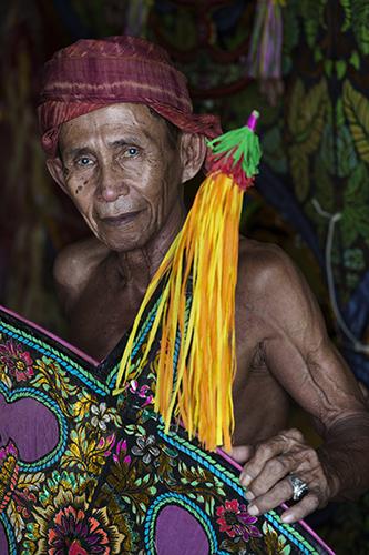 Portrait of Wau Bulau maker, Kelantan, Malaysia
