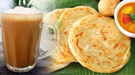 teh tarik and roti canai