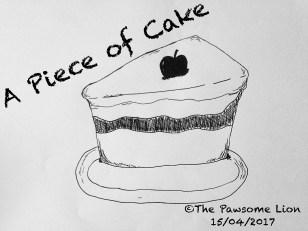 a piece of cake doodle