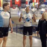 Robert Warren Hess with board members Scott Peterson and Melissa Lanfre