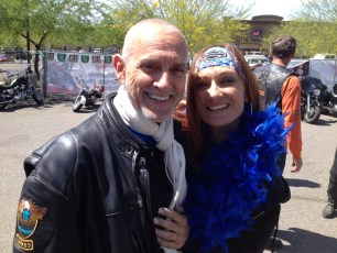 PCAP President Robert Hess with Shelley Martin, Peace Out for Prostate Cancer Ride Founder