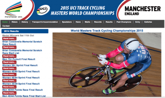 Time trialist at Manchester Velodrome_2014