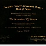 Prostate Cancer Awareness Project Hall of Fame Award