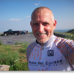 Prostate Cancer Awareness Project President, Robert Hess, Reddish Knob Bicycle Ride 2008.