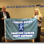 PCAP President Robert Hess and Board Member Melissa Lanfre at Beach Business Bank.