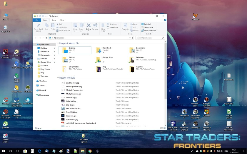 A 'Restored' File Explorer Window