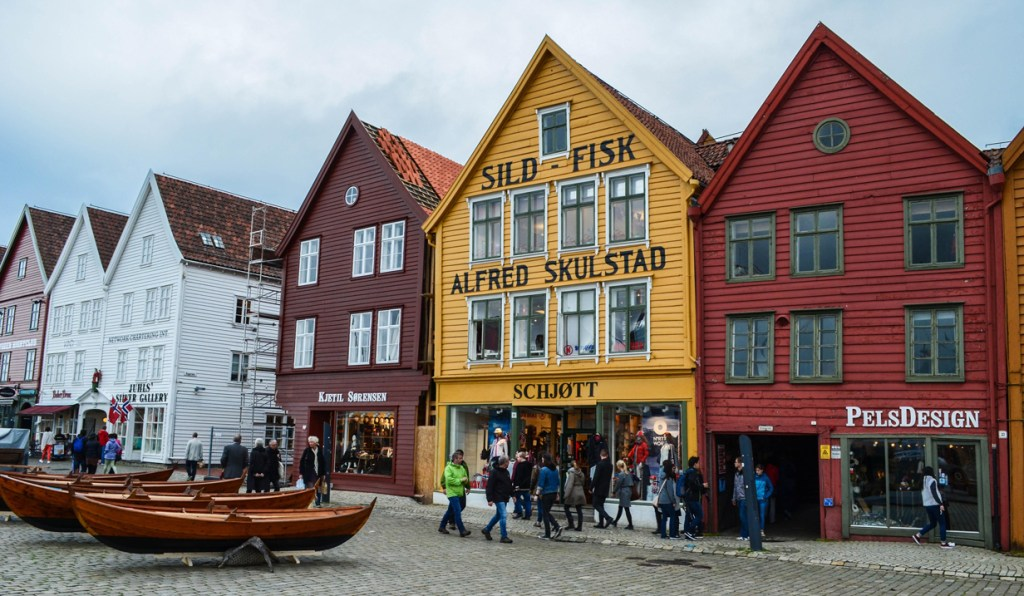 Photo 2. Bryggen is Bergen's recognisable old wharf