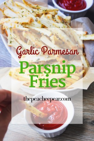 Looking for a low-carb and healthy option to regular french fries? Try these Garlic Parmesan Parsnip Fries. They're tasty, crunchy and make great finger food for toddlers. Great for picky eaters too. Best vegetables fries you'll have. Make these delicious Garlic Parmesan Parsnip Fries today.
