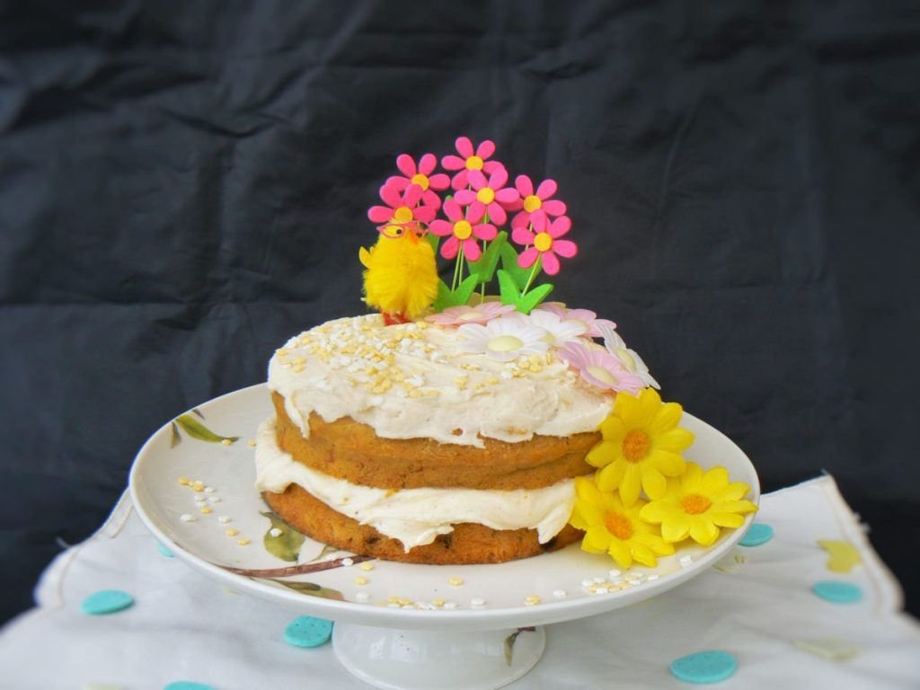 Freefromeaster Easy Decorated Glutenfree Easter Cake Eggfree Vegan