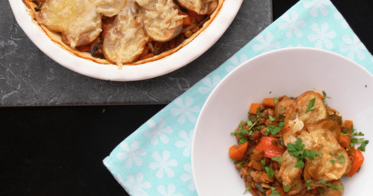 Vegan Lentil and Vegetable Hotpot (Dairy free, Gluten free)
