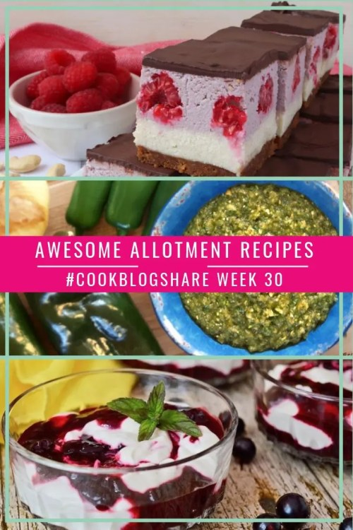 Four Awesome Allotment Recipes for #CookBlogShare week 30. Full of beautiful seasonal goodies, currently gracing Veggie patches all over the country!