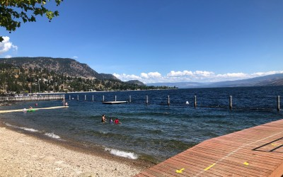 Is swimmer's itch a thing in Peachland? Yes, yes it is..