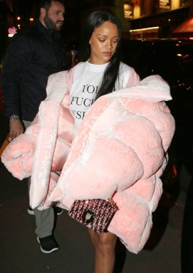 EXCLUSIVE: EXCLUSIVE: Rihanna went to studio for Puma Shooting advertising. After shooting she went to Marc Jacobs private appartment in Paris for a party. Pictured: Rihanna Ref: SPL1366484 021016 EXCLUSIVE Picture by: KCS Presse / Splash News Splash News and Pictures Los Angeles: 310-821-2666 New York: 212-619-2666 London: 870-934-2666 photodesk@splashnews.com