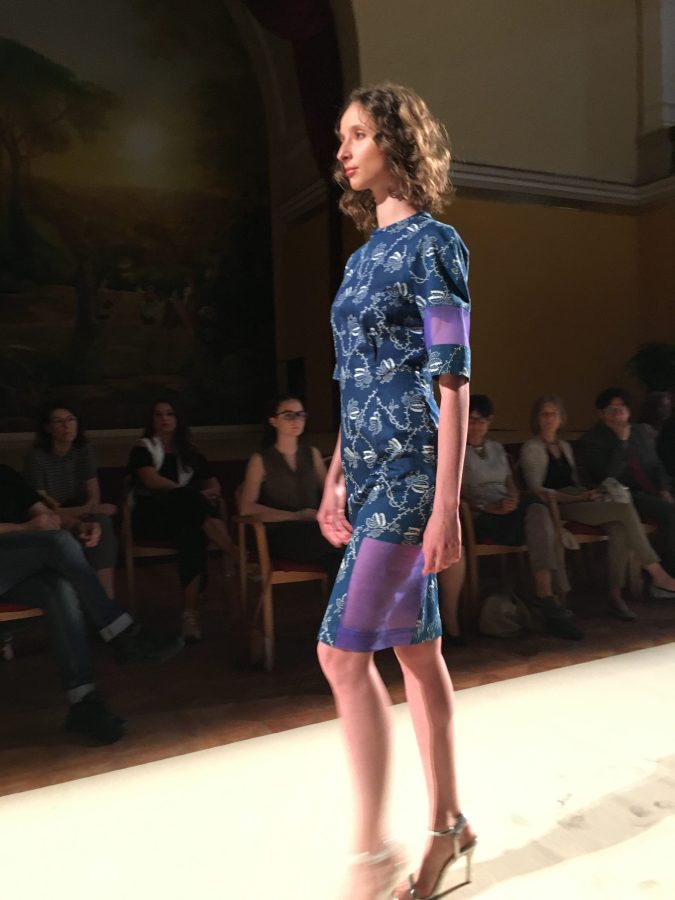 global-sustainable-fashion-week-runway-blue-dress
