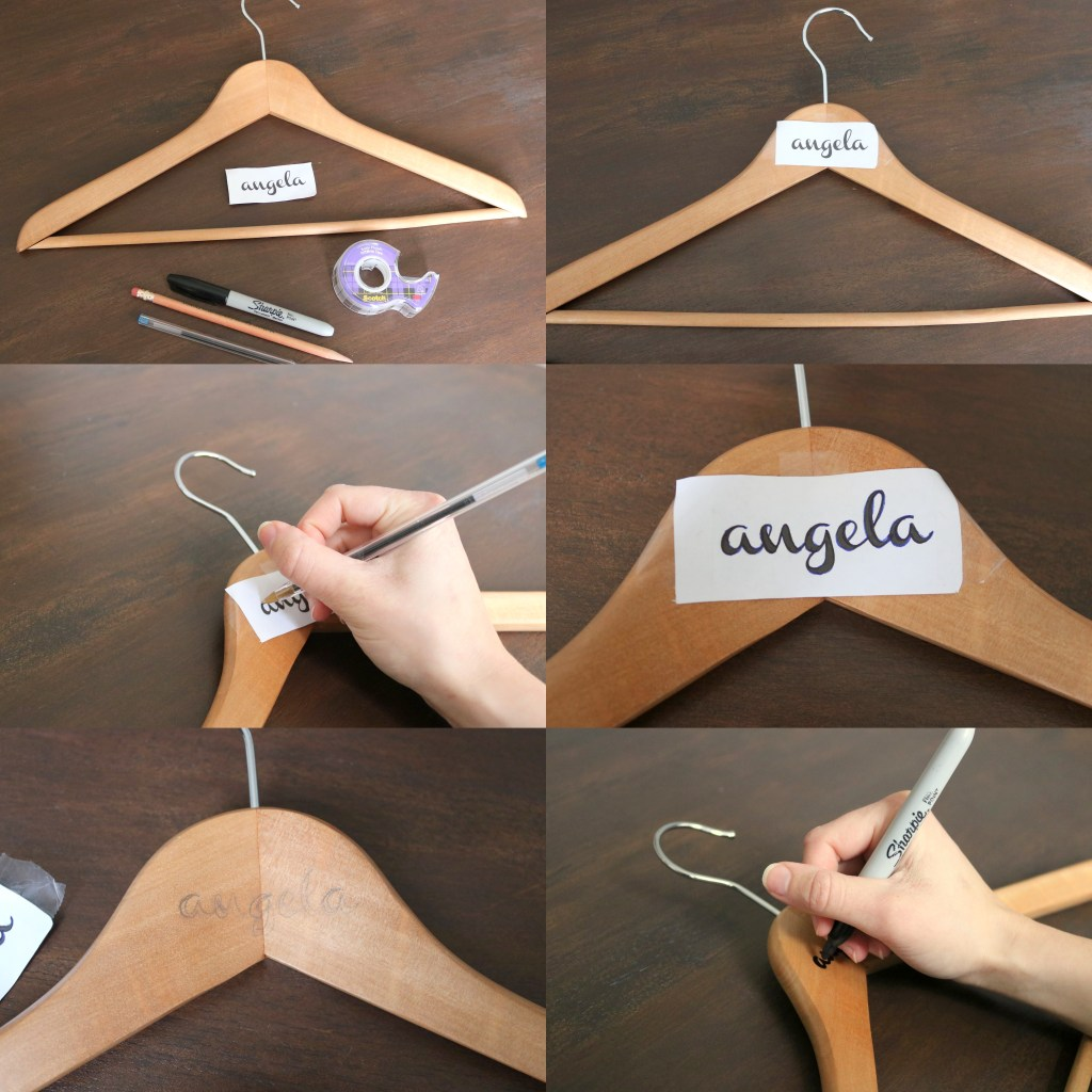Step by Step DIY Bridesmaid Wooden Hangers