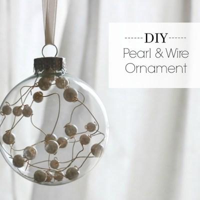 DIY Pearl & Wire Ornament