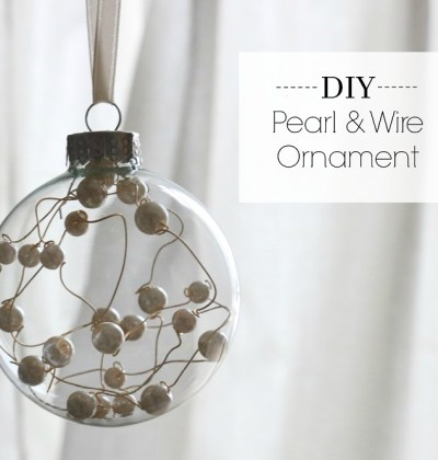 DIY Pearl & Wire Ornament