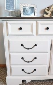 Refurbished dresser using homemade chalk finish paint