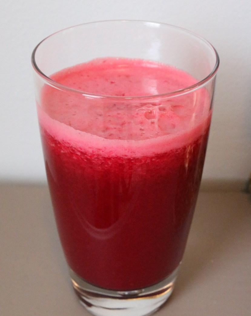 Beet Juice Recipe - Beets, Apple, Carrots, Celery, Lemon and Orange