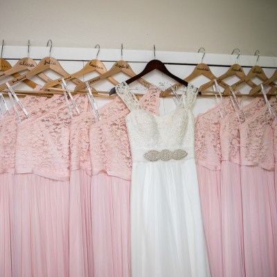 DIY Personalized Bridesmaid Dress Hangers