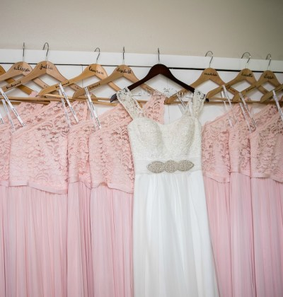 DIY Personalized Bridesmaid Dress Hangers