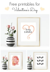 3 free printables for Valentine's Day
