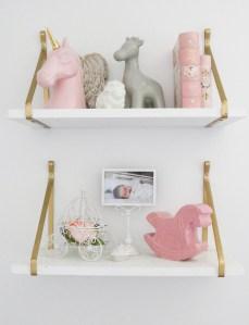 Baby Girl Nursery - Shelves