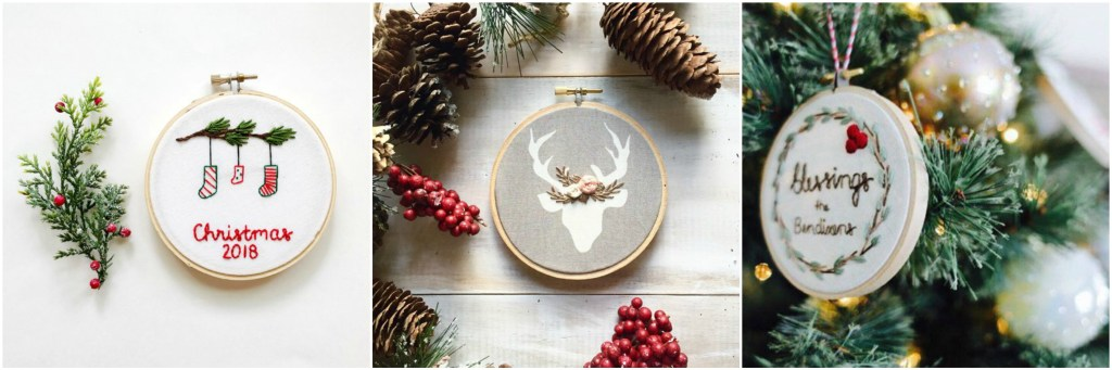 personalized embroidery ornaments by KimArt