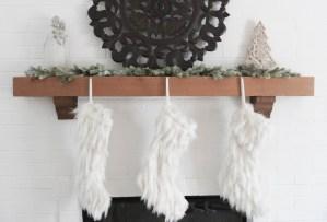 Christmas Fireplace Decor Stockings