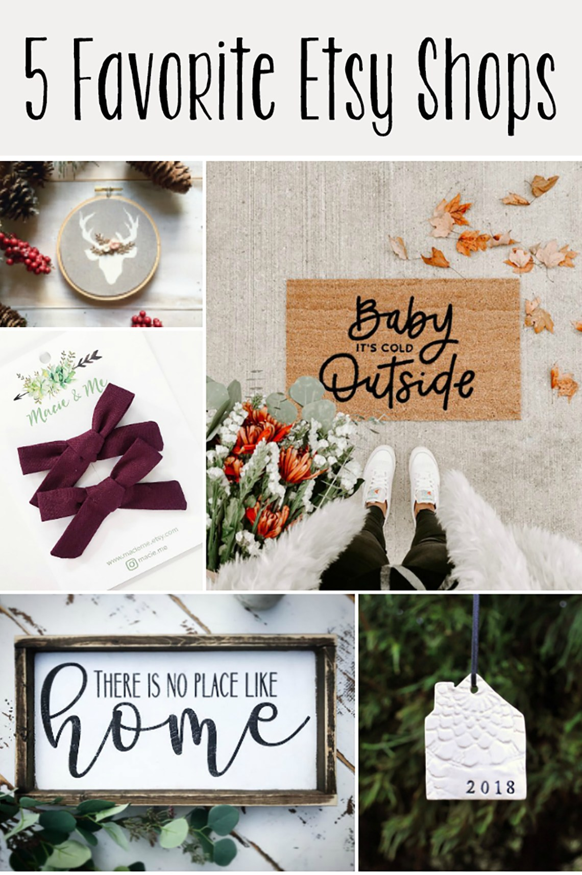 5 Favorite Etsy Shops