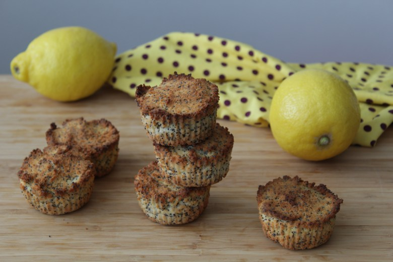Lemon Poppy-Seed Muffins with Coconut Flour and Stevia
